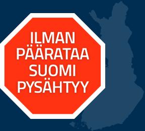 Ilman päärataa Suomi pysähtyy